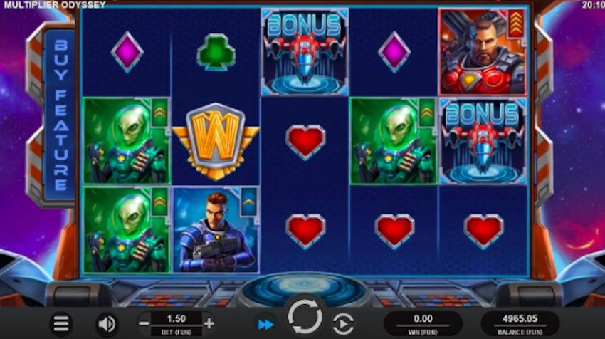 Multiplier odyssey slot gameplay